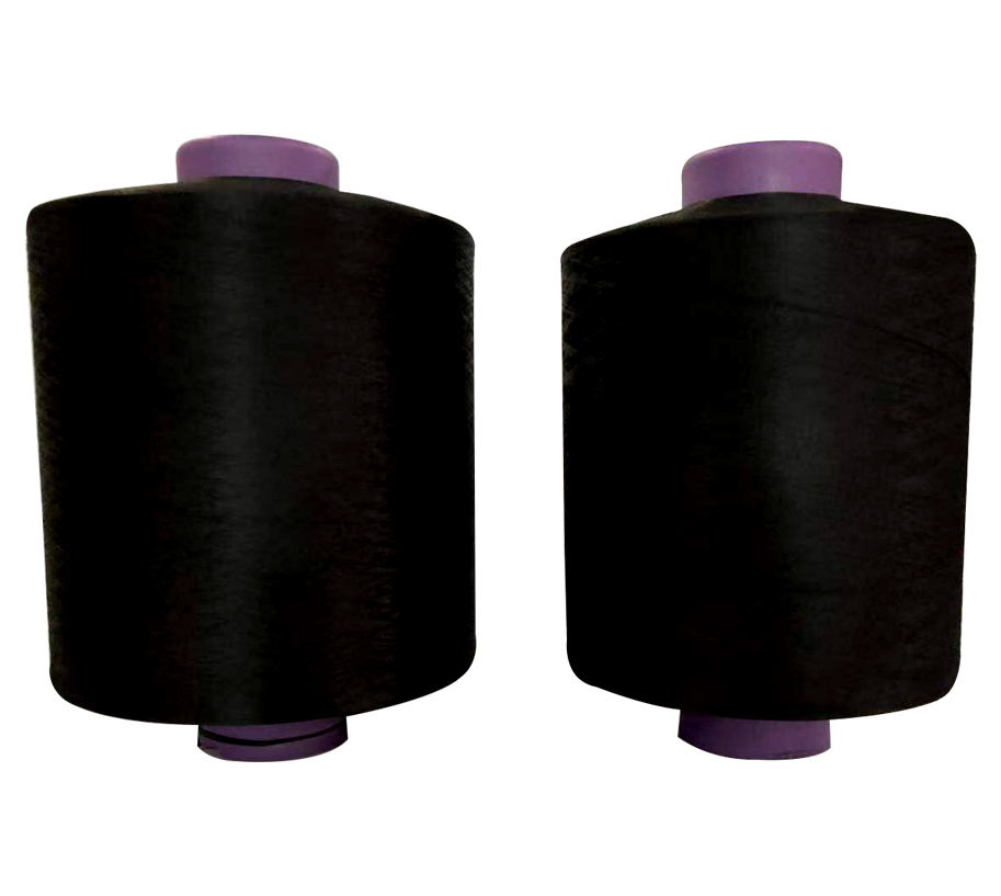 300D96F BLACK HIGH ELASTIC Polyester Yarn