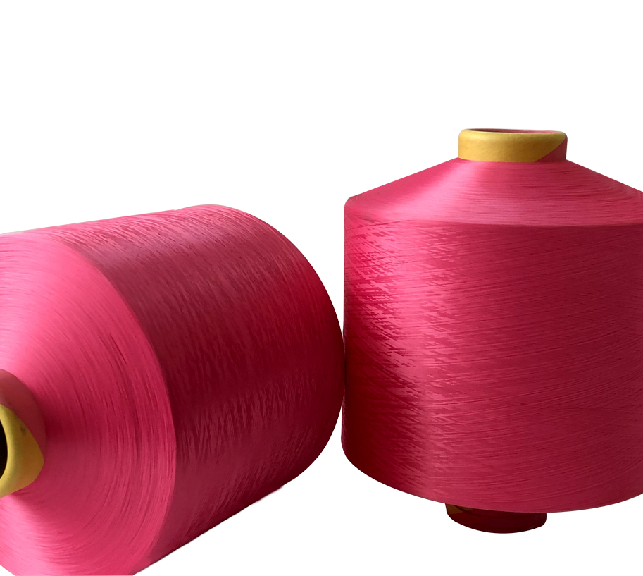 300D Rose Red Polyester Yarn